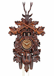 Herrzeit By Adolf Herr Cuckoo Clock - The Bear Hunter Hands.. Ah 574/1 8tmt New