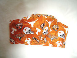 Handmade Cotton Fabric Face Mask Non Woven Interacing Washable Adult Texas Tech $10.99