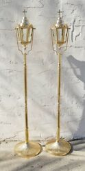 Processional Torch / Lantern With Base Stand Acolyte Candlestick 130 / 91