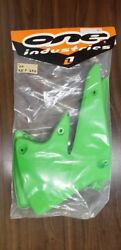 One Industries Green Radiator Shrouds For 2004 Kx 250f