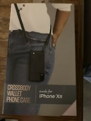 New Black Crossbody Wallet Phone Case For Apple iPhone XR $8.00