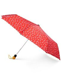 Totes Auto Open Umbrella with Emoji Face Handle42quot; canopy Color Red Sweet NEW $22.80