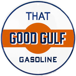 Vintage Style 12 That Good Gulf Gas Station Signs Man Cave Garage Decor Oil Can