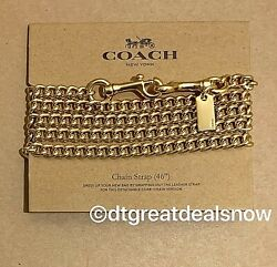 NWT Coach F31126 Shoulder Crossbody 46quot; Chain Strap Gold Tone $34.99