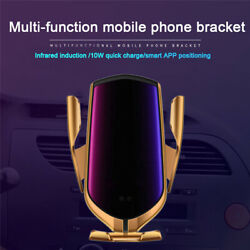 Car Phone Mount Cell Phone Holder 10w Wireless Charger Gps Position Tracking