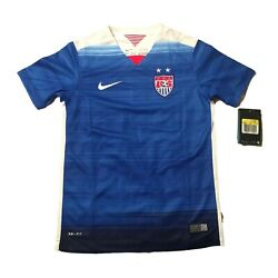 Nike Usa Soccer Away 2015 World Cup Jersey Youth Small Uswnt New W/tags