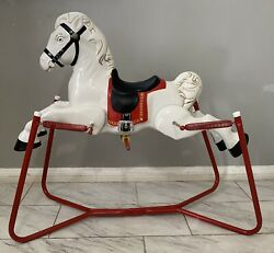 Vintage White Wonder Horse Rocking Pony - All Metal - Local Pick Up Only