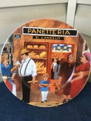 Williams Sonoma Tuscan Storefronts Panetteria Dinner Plate Guy Buffet Mint
