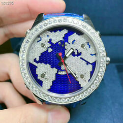 New Jacob&Co. Five Time Zones JC-47SB Stainless Steel With Diamonds 47mm Watch