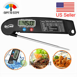 Waterproof Instant Read Meat Thermometer For Kitchen Andoutdoor Cooking Bbqgrill