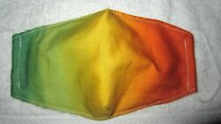 Yellow Sunset Design Handmade Fabric Mask Washable Face Cover Filter Pocket $7.00