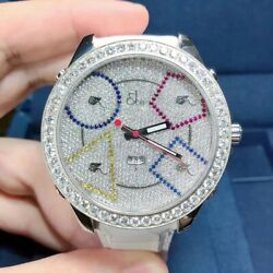 New Jacob&Co JC49SS Five Time Zones 47mm Stainless Steel Diamonds Watch