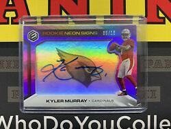 2019 Panini Elements Kyler Murray Rc Rookie Neon Signs Auto Sp /10 Cardinals