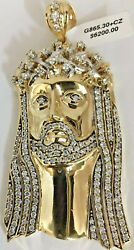 10K GOLD CHRIST HEAD PENDANT WITH CUBIC ZIRCONIA (CLOSED BACK)3.14