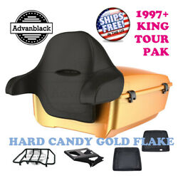 Hard Candy Gold Flake King Tour Pack Black Hinges And Latch For 97-20 Harley