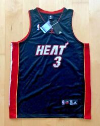 Official Nba Dwayne Wade 3 Miami Heat Authentic Jersey Size 52 Nwt