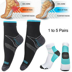 Plantar Fasciitis Compression Socks Arch Ankle Brace Support Pain Relief Socks $5.97