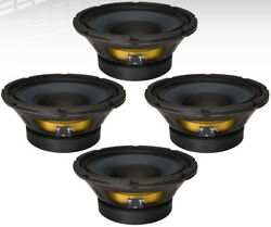 4x Eminence Delta-10a 10 Pa Mid-bass Woofer 700w Midrange Replacement Speaker