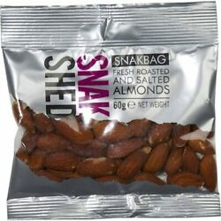 Snak Shed Almonds Roasted And Salted 4 X 60g