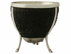 Continental Silver Mounted Coconut Cup - Antique Circa 1890 Height 9.6cm