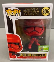 Funko Pop Star Wars Red Sith Trooper 2019 Sdcc Exclusive 306 50th Anniversary