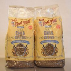 2 Pack Bob's Red Mill Premium Whole Chia Seeds 16 Oz