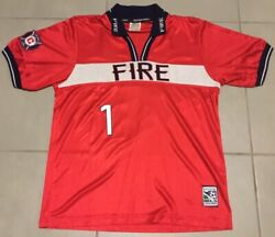 Vtg Menand039s Nike Chicago Fire 2000 Sz L Jorge Campos 1 Soccer Jersey Mls 90s