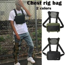 New Unisex Chest Rig Bag Streetwear Vest Bag Hip Hop Style Cross Bags $14.99