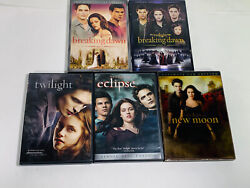 The Twilight Sage Dvd Movie Collection Eclipse Moon Breaking Dawn 1 And 2