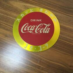 Coca Cola Button Sign Board Vintage Retro Japanese 1960s Coke Showa Japan Rare