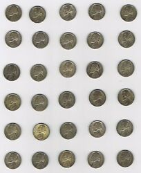 Lot Of One Hundred 100 Jefferson Nickels Wwii 1942-1945 35 Silver