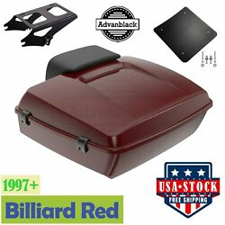 Chopped Tour Pack Billiard Red W/ Black Liner For 97+ Harley Davidson Touring