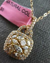 Large 1.61ct Multi Color Diamond 18kt Rose Gold Lock To Your Heart Fun Pendant