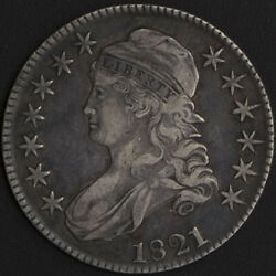 1821 Capped Bust Half Dollar Xf Old Crusty Tone Us Mint 50 Cent Silver Coin Rare