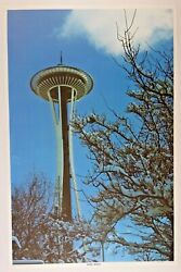 1972 Vintage Original Poster Seattle Space Needle Aa Sales Pacific North West