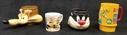 Novelty Cartoon Mugs Sylvester The Cat, Wile E Coyote, 3 Little Pigs