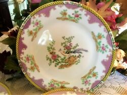 A Four Rare Antique Noritake Chanvale Dinner Plates From 1921-4 Exc. Condition