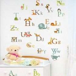 Animals Alphabet Wall Stickers Removable Kids Home Nursery Educational Art Decal