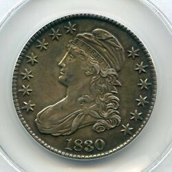 1830 Capped Bust Half Dollar Au Detail Toned Us Mint 50 Cent Silver Coin Scarce