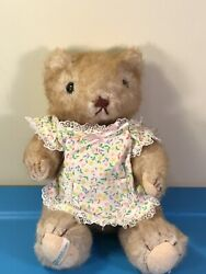 Vintage Gorham 10 Jointed Plush Teddy Bear, 1984 Marmalade Maybear, With Apron