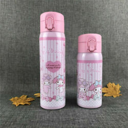 1pc Cute My Melody Sanrio Pink Thermos Bottle Water Cup 304 Stainless Tumbler