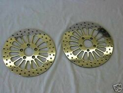 2000and039- 2014and039 Harley Softail 11.5 Hd Polished Brake Rotors-front And Rear W/bolts