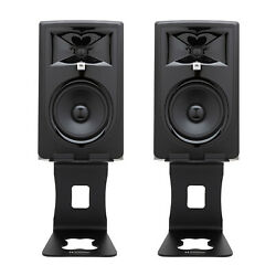 Jbl 306p Mkii Powered 6-inch Two-way Studio Monitor Pair Bundle With Stands