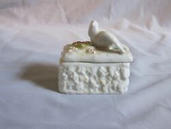 Antique Staffordshire Dove And Flowers Fairing Box Mid 1800and039s Early 1900and039s