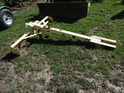 Homemade Grader Box Blade For A John Deere M, Mt Tractor, Belly Mount, Tag 948
