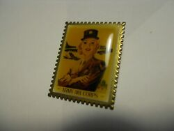 Womenand039s Army Air Corp United States Ww2 Recruiting Poster 1.25 Lapel Pin