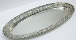 1800's Theodore B. Starr Sterling Silver Fish Serving Plate 9222 No Monogram