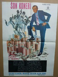 The Anderson Tapes 1971  Sean Connery Sidney Lumet  YUGOSLAVIAN MOVIE POSTER