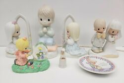 Precious Moments By Enesco Lot 1979-1997 Figures, Plate, Light - Vintage