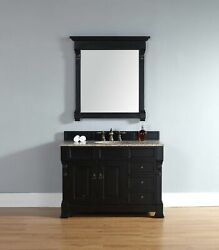 48 In. Single Cabinet With Drawers In Antique Black Finish